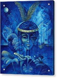 Anacaona Acrylic Print by Elie Lescot