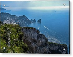 Anacapri On Isle Of Capri Acrylic Print