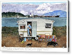 Anacortes Fuel Acrylic Print by Perry Woodfin