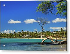 Anaehoomalu Bay Acrylic Print by James Eddy