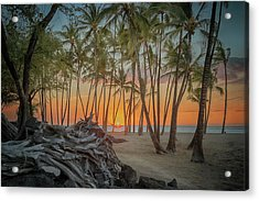 Anaehoomalu Beach Sunset Acrylic Print