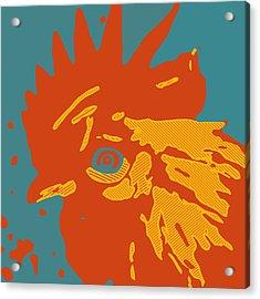 Analog Rooster Rocks Acrylic Print