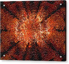 Acrylic Print featuring the digital art Analytical Explosion by Charmaine Zoe