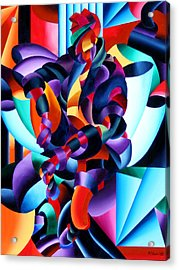 Acrylic Print featuring the painting Anamorphosis From The Outside In by Mark Webster