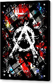 Anarchy Punk Acrylic Print by Roseanne Jones