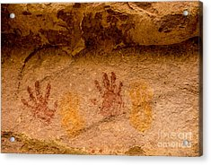 Anasazi Painted Handprints - Utah Acrylic Print