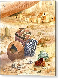 Acrylic Print featuring the painting Anasazi Remnants by Marilyn Smith