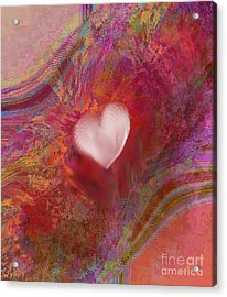 Anatomy Of Heart Acrylic Print