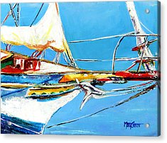 Anchored 2 Acrylic Print by Marti Green