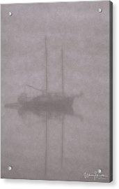 Anchored In Fog #1 Acrylic Print by Wally Hampton