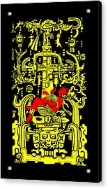 Ancient Astronaut Yellow And Red Version Acrylic Print
