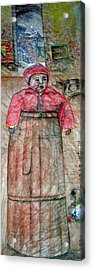 Acrylic Print featuring the painting Ancient Babysitter by Debbi Saccomanno Chan