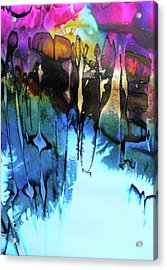 Acrylic Print featuring the painting Ancient Echoes by Mary Sullivan
