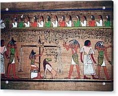 Ancient Egypt Underworld Court Of Final Judgement Acrylic Print by Daniel Hagerman