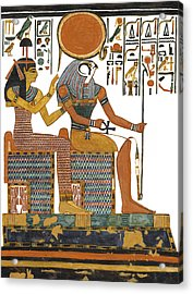 Ancient Egyptian Gods Hathor And Re Acrylic Print