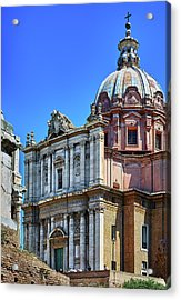 Acrylic Print featuring the photograph Ancient Government Building At The Roman Forum by Eduardo Jose Accorinti