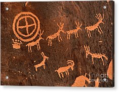 Ancient Indian Petroglyphs Acrylic Print by Gary Whitton
