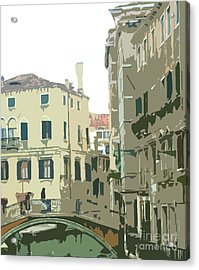 Ancient Italian Canal In Venice Acrylic Print by Mindy Newman