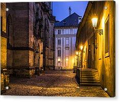 Ancient-like Dawn At Prague Castle Acrylic Print by Marek Boguszak