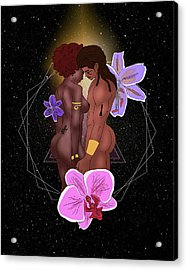 Ancient Lovers Connected Acrylic Print by Kenal Louis