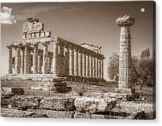 Ancient Paestum Architecture Acrylic Print