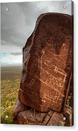 Ancient Petroglyph At Three Rivers Petroglyph Site Acrylic Print