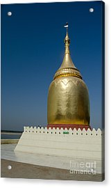 Ancient Riverside Stupa Along The Irrawaddy River In Burma Acrylic Print