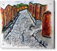 Ancient Street, Pompeii Acrylic Print by Clyde J Kell