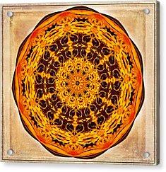 Ancient Sun Kaleidoscope Acrylic Print