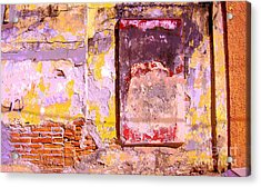 Ancient Wall 7 By Michael Fitzpatrick Acrylic Print by Mexicolors Art Photography