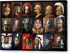 Ancient Warriors Acrylic Print by Arturas Slapsys