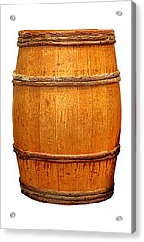 Ancient Whisky Barrel Acrylic Print by Olivier Le Queinec