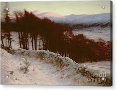 And All The Air A Solemn Silence Holds Acrylic Print by Joseph Farquharson