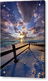 Acrylic Print featuring the photograph And I Will Give You Rest. by Phil Koch