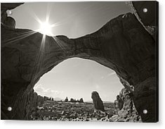 And I'll Hide From The World Behind A Broken Frame Acrylic Print by Mike McMurray