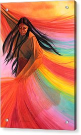 And So We Dance Acrylic Print by Maria Hathaway Spencer