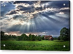 And The Heavens Opened 1 Acrylic Print by Mark Fuller