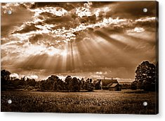 And The Heavens Opened 3 Acrylic Print by Mark Fuller
