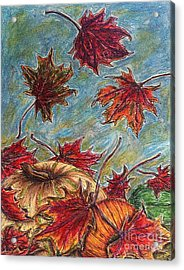 And The Leaves Came Tumbling Down Acrylic Print