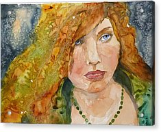 Acrylic Print featuring the painting And They Called Her Paisley by P Maure Bausch