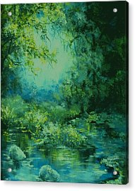 And Time Stood Still Acrylic Print by Mary Wolf