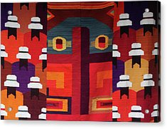 Andean Colourful Patterns Acrylic Print by Aidan Moran