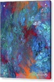 Acrylic Print featuring the digital art Andee Design Abstract 1 2017 by Andee Design
