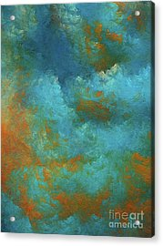 Acrylic Print featuring the digital art Andee Design Abstract 55 2017 by Andee Design