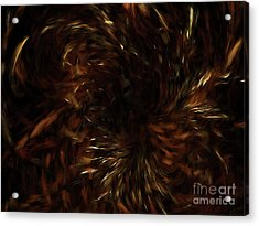 Acrylic Print featuring the digital art Andee Design Abstract 57 2017 by Andee Design