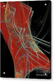 Acrylic Print featuring the digital art Andee Design Abstract 60 2017 by Andee Design