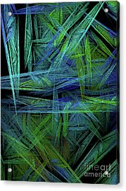 Acrylic Print featuring the digital art Andee Design Abstract 61 2017 by Andee Design
