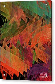 Acrylic Print featuring the digital art Andee Design Abstract 62 2017 by Andee Design