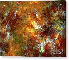 Acrylic Print featuring the digital art Andee Design Abstract 69 2017 by Andee Design