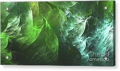 Acrylic Print featuring the digital art Andee Design Abstract 72 2017 by Andee Design